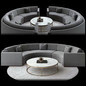 Curve sofa Restoration Hardware