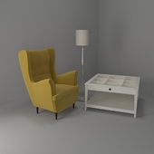 Armchair and coffee table