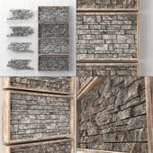 Built-in decorative panel made of bricks
