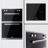 Beko - Double oven BXDF25300 and hob HII64500FHT