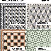Topcer Victorian Tiles Set4