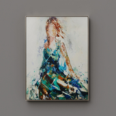 """John-Richard Collection """"Lady of the Manor"""" Handmade Wall Art on Canvas by Feng Ming"""