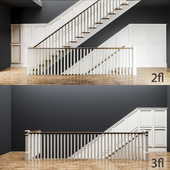 Stairs to 3 levels