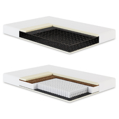 Orthopedic mattress in a section