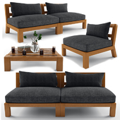 Lounge Armchairs with Sofa