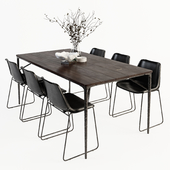 Siena Table Drexel Chair set