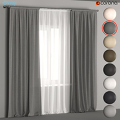Linen curtains in 8 neutral colors with tulle.