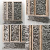 Decorative panels made of stone