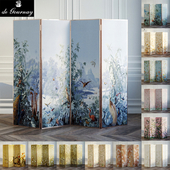 Screen covers with wallpaper De Gournay