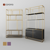 Cosmorelax shelving | Makella, Makella New | Gold, Cooper