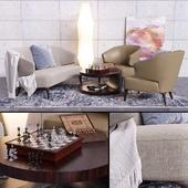 Minotti Aston sofa & armchair