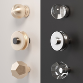 A set of furniture handles (buttons)