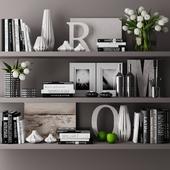 decorative set with books 03