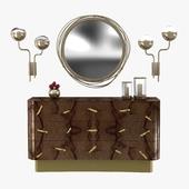 Brabbu kayan mirror, niku wall lamp and baraka chest 3D model