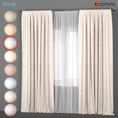 Light curtains in eight colors with white tulle.