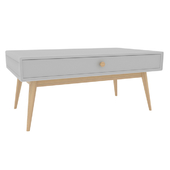 Coffee table with 1 drawer and 1 niche, jimi white La Redoute Interiors