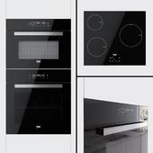 Beko - oven BQM24400, compact oven BQW14400 and hob HQI63400AT