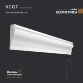 "Gypsum cornice - KCG7. Dimensions (50x170x1000). Exclusive series of decor ""Geometrica""."