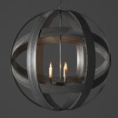 metal strap globe lantern - large