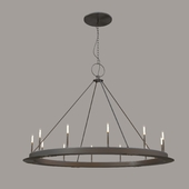 minimalist iron ring chandelier