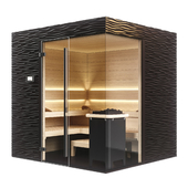 KLAFS Design Sauna Shape with sauna heater sanarium majus