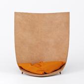 TORU Designer leather armchair Babu
