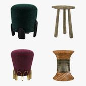 Brabbu stools set