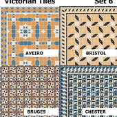 Topcer Victorian Tiles Set6