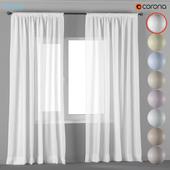 Прямые шторы из тюля в 8 светлых нейтральных цветах.