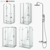 Set of shower cabins Ravak set 18