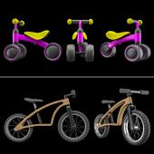 Scool PedeX Bike and Three Wheel Children Balance Bike