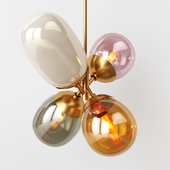 West elm Modern Balloon Glass Chandelier