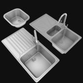kitchen sink set and sink tap
