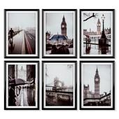 Posters: rainy London.
