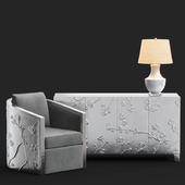 Bernhardt Sasha Chair / Fleur Credenza