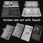 kitchen sink set with faucet