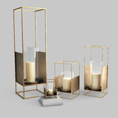 West Elm Metallic Lantern