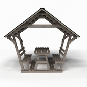 Wooden arbor