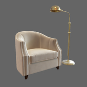 SET Chair with a floor lamp