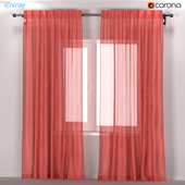IKEA LEYONGEP - transparent curtains from flax.