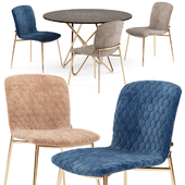 Love chair and Stellar table - Calligaris