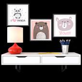 Decorative set children's room 01