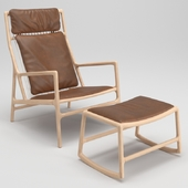 Gazzda Dedo Lounge Chair and Dedo Footstool