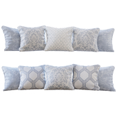 Set of pillows with Jab Damasco 01 fabrics (Pillows Jab Damasco 01 YOU)