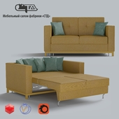 """OM Sofa bed """"Luxury-1 Slim"""". Models from the Factory of upholstered furniture """"STD""""."""