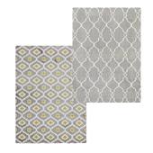 Temple and webster: Delica Flat Weave Rug Gray, Bianca Indoor Outdoor Rug