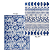 Temple and webster: Lena Navy Power Loomed Modern Rug, Oxus Navy Power Loomed Modern Rug