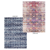 Temple and webster: Blue Art Moderne Palais Rug, Zaire Colorful Power Loomed Modern Rug