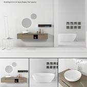 Bathroom furniture set Gold 3