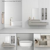 Bathroom furniture set Gold 2